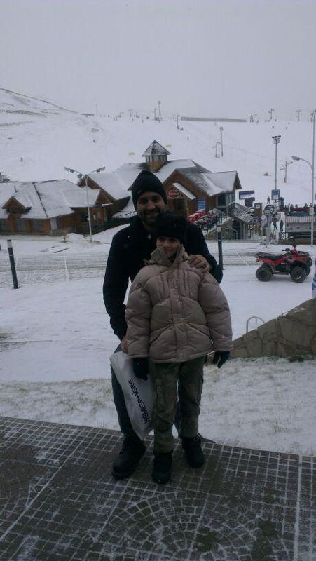 Passeando na neve!!